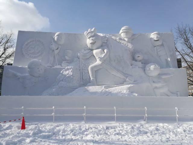 さっぽろ雪まつり サザエさん