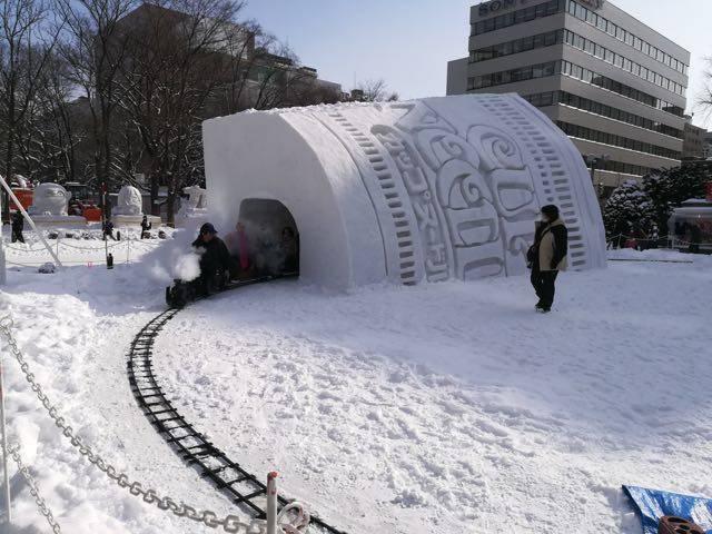 さっぽろ雪まつり ミニSL