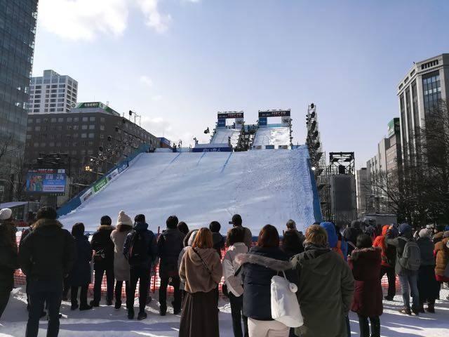 雪まつり ジャンプ台