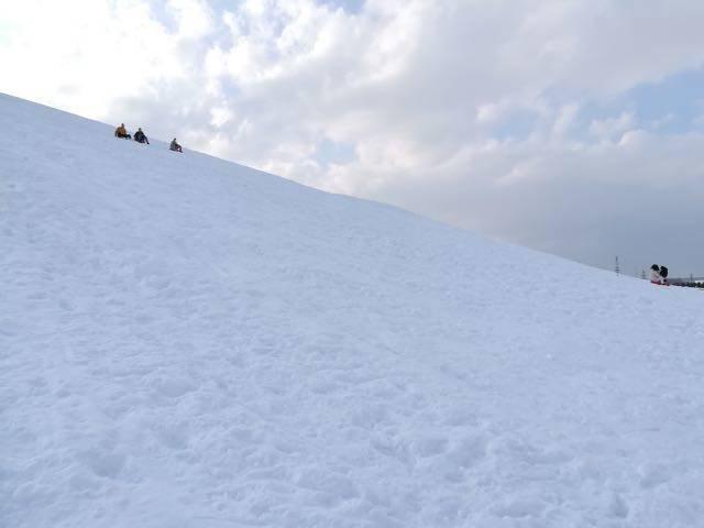 モエレ山 急斜面