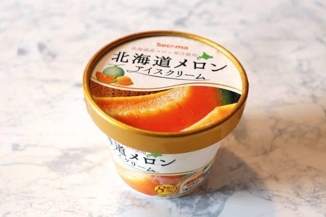 セイコーマート 北海道メロンアイスクリーム