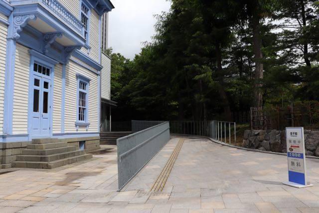 豊平館 入り口