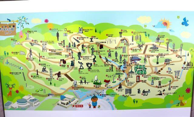 札幌芸術の森 野外美術館 マップ