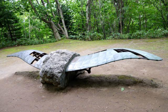 野外美術館 石飛ぶ