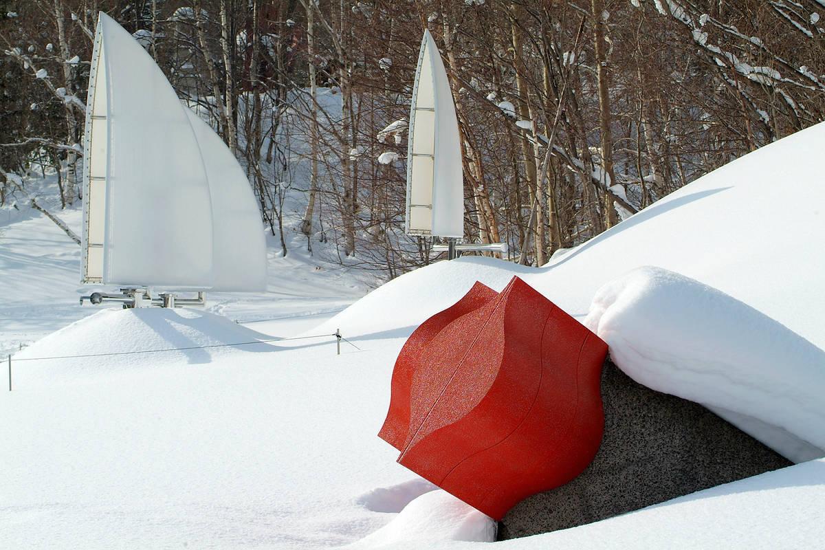 野外美術館 冬