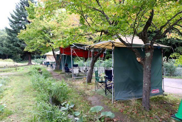 林中つりぼり テント
