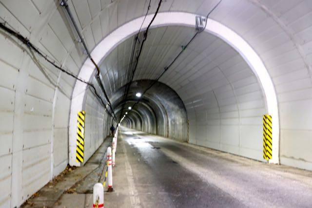 豊平峡ダム トンネル 徒歩
