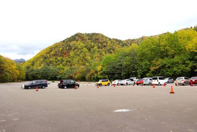 豊平峡ダム 駐車場