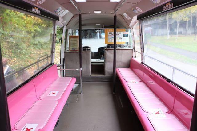 豊平峡ダム 電気バス車内