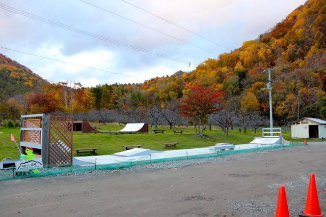 八剣山果樹園 スケートボード場
