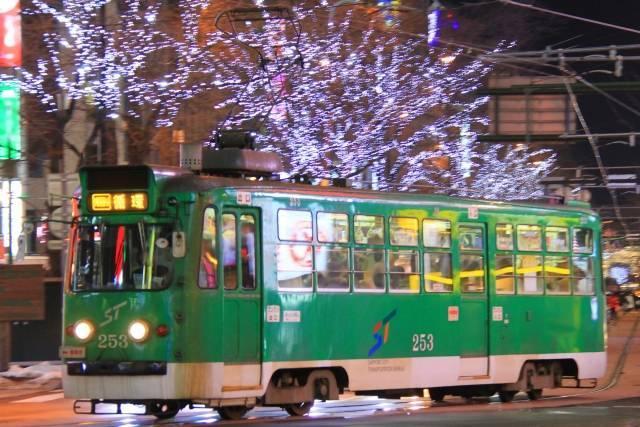 札幌市電 イルミネーション