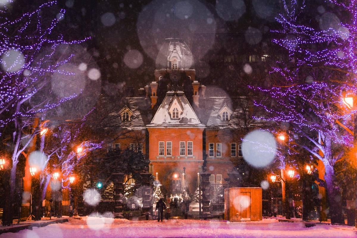 あかれんが庁舎 夜景