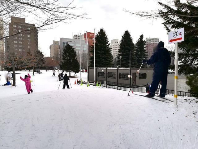 中島公園 歩くスキー