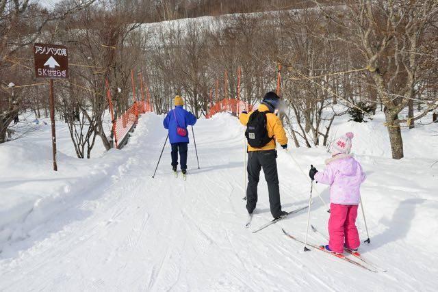 滝野すずらん丘陵公園 歩くスキー