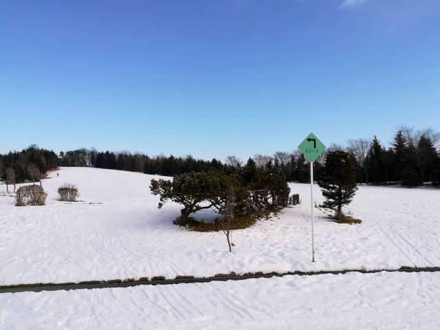 川下公園 歩くスキーコース
