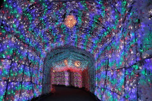 洞爺湖温泉イルミネーショントンネル