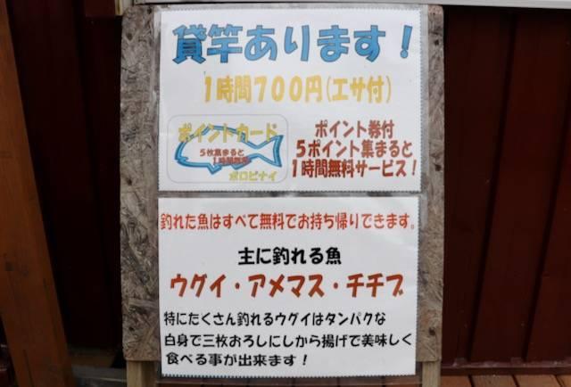 支笏湖ポロピナイ 釣り堀