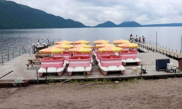 ペダルボート 支笏湖 ポロピナイ