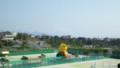 アイスタ日本平に到着。巨大パルちゃんが出現していた。