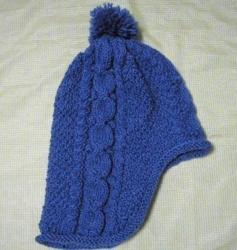 No12 耳当て付き帽子(横)