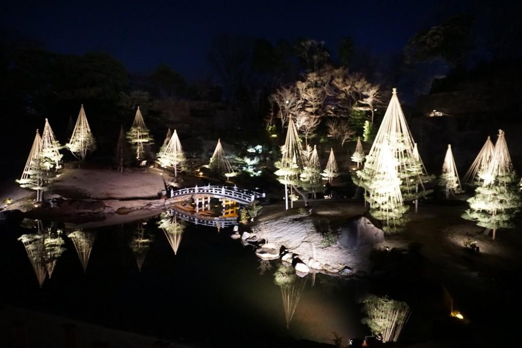 夜の玉泉院丸庭園