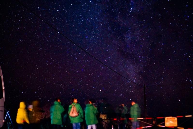 ハワイ島マウナケアから見た星空