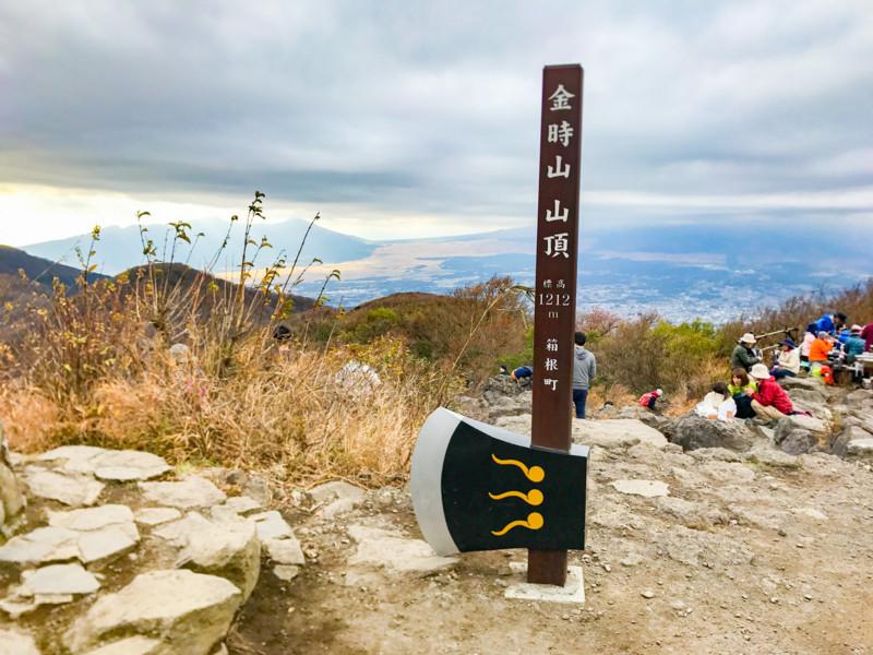 金時山山頂の斧