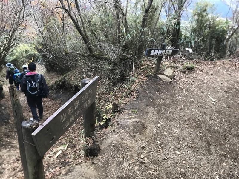 金時神社への道標