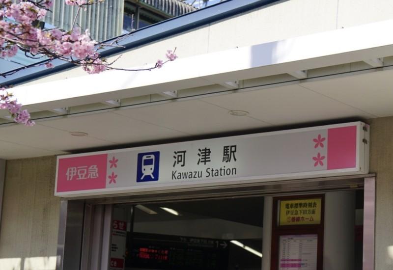 河津駅の出口