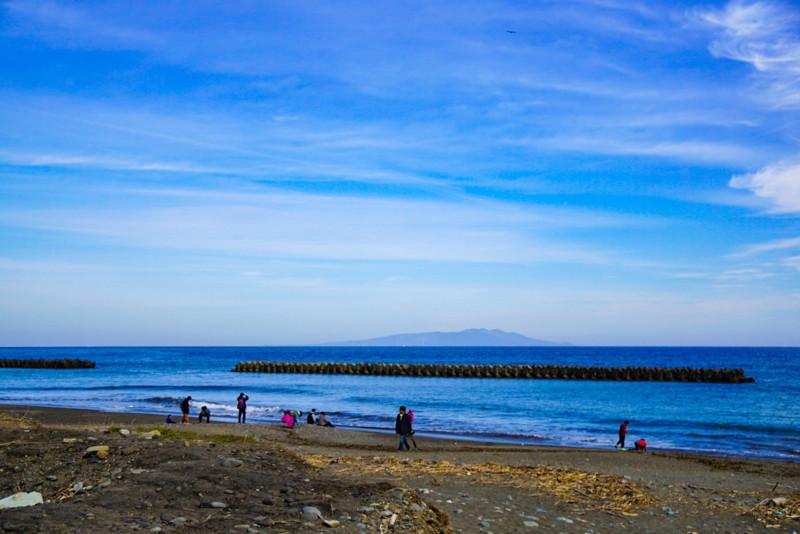 相模湾と砂浜
