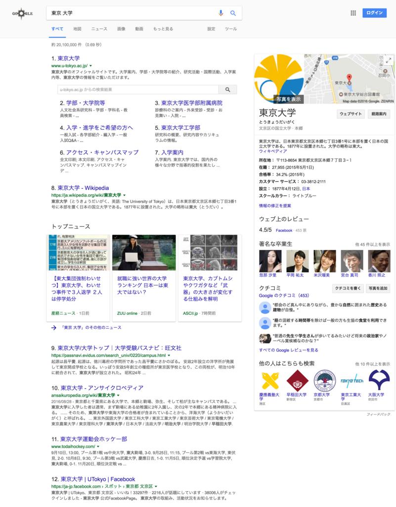 東京 大学での検索検索結果