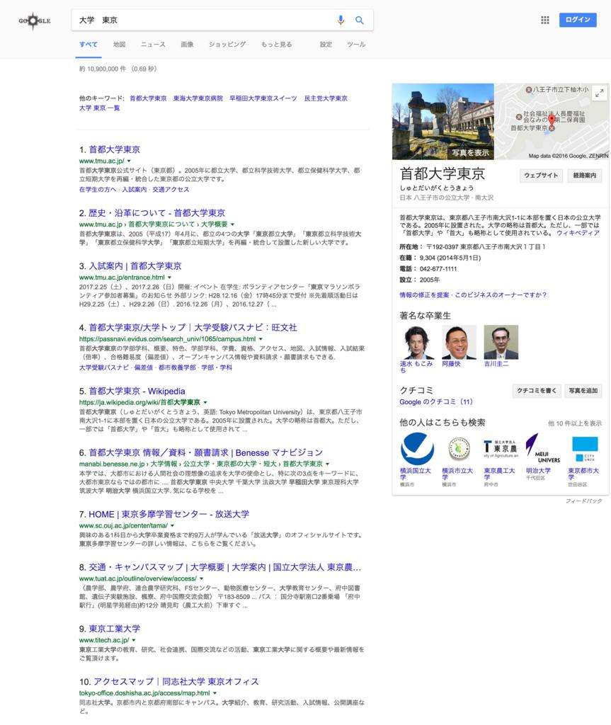 大学東京での検索結果