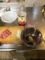 マーボ豆腐準備