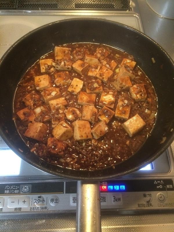 マーボー豆腐調理