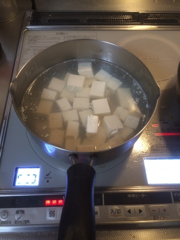 マーボ豆腐塩茹で