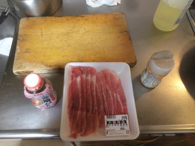 豚の生姜焼き材料2019/02/23