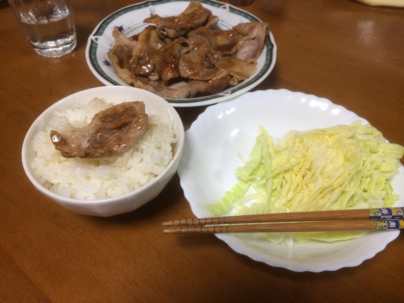 豚の生姜焼き団らん2019/02/23