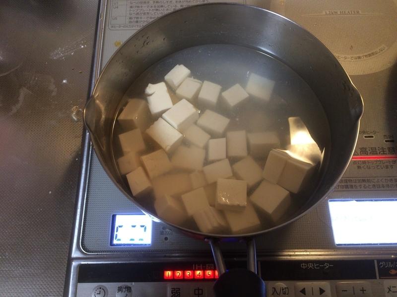 和風マーボー豆腐塩茹で2019/03/06
