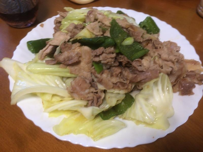 肉野菜炒め2019/06/15