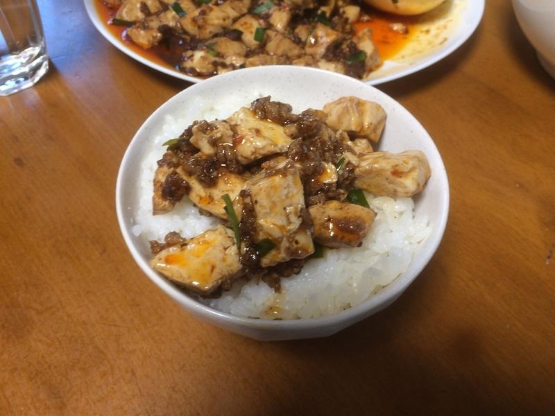 麻婆豆腐ご飯2019/08/11
