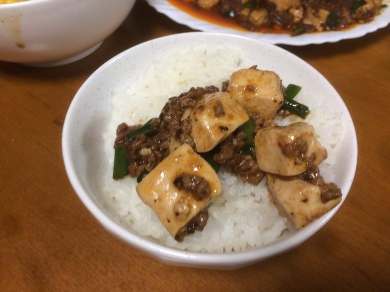 麻婆豆腐ご飯2019/08/23