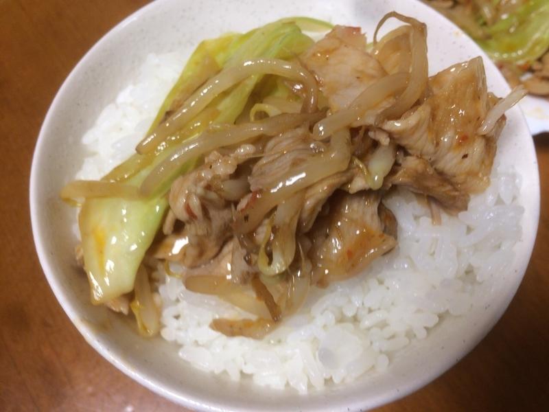 ホイコーローご飯2019/08/25
