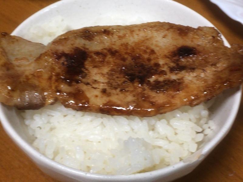 豚肉の生姜焼きご飯2019/09/14