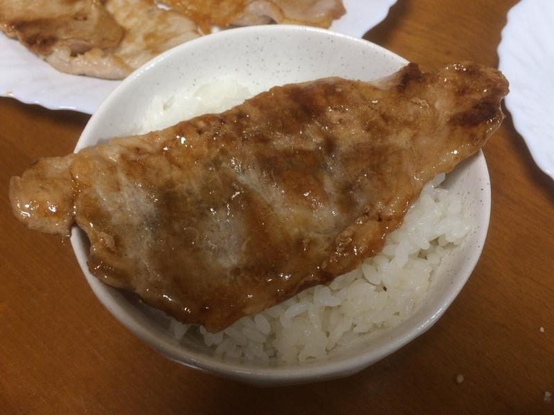 豚の生姜焼きご飯2019/09/18
