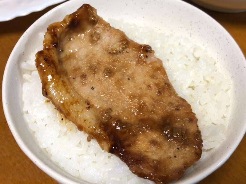 豚の生姜焼きご飯2019/10/24