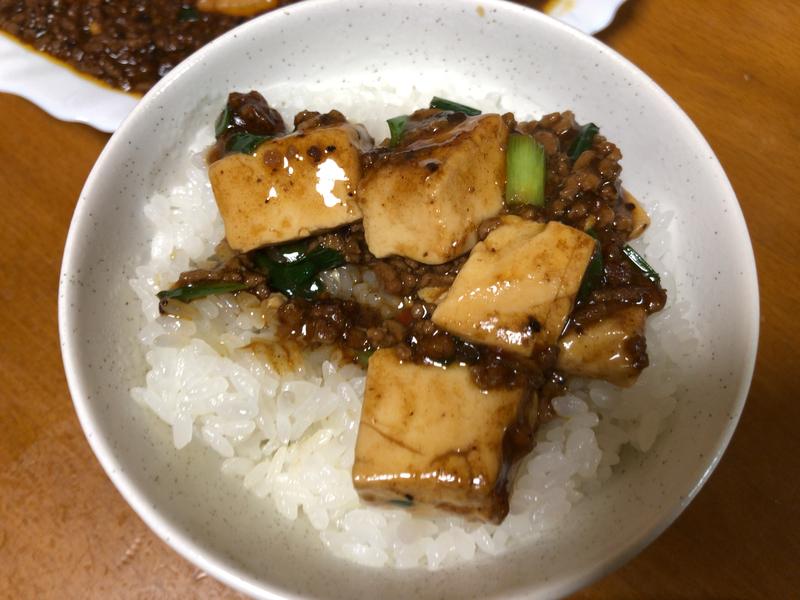 麻婆豆腐ご飯2019/12/31