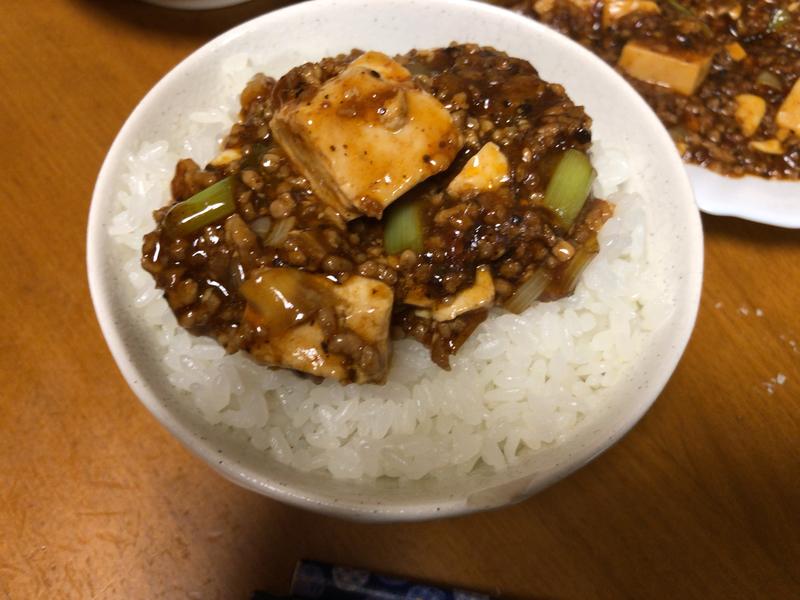 麻婆豆腐ご飯2020/01/16