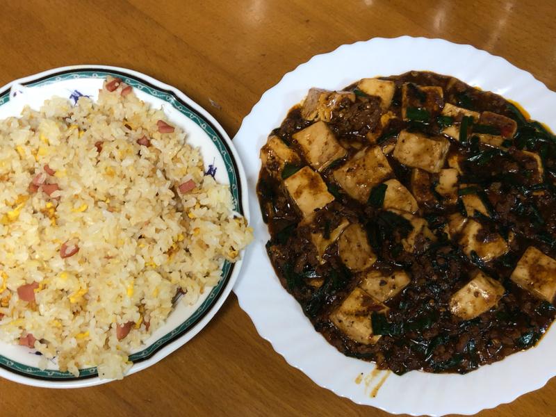 チャーハン麻婆豆腐2020/02/15