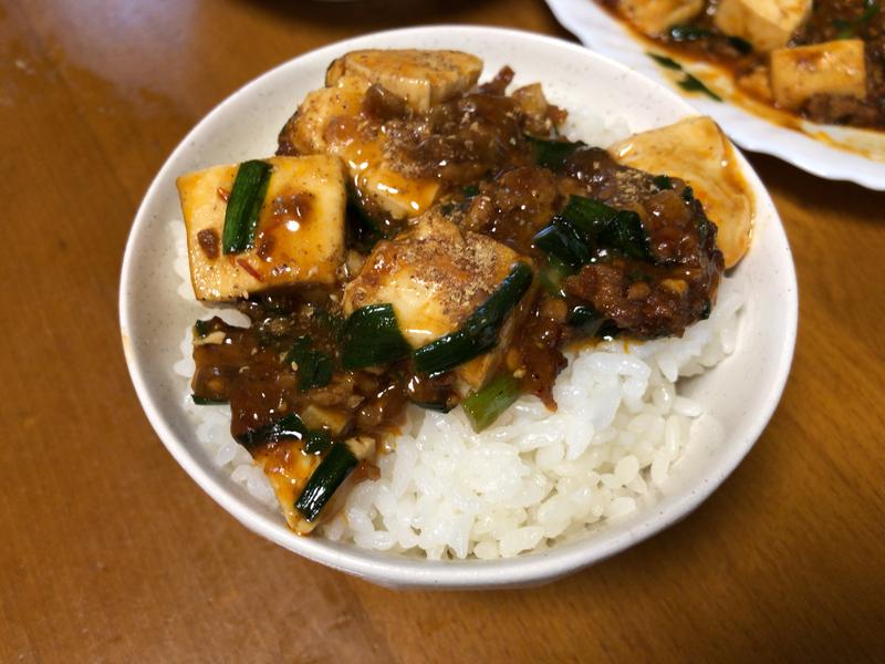 麻婆豆腐ご飯2020/04/30
