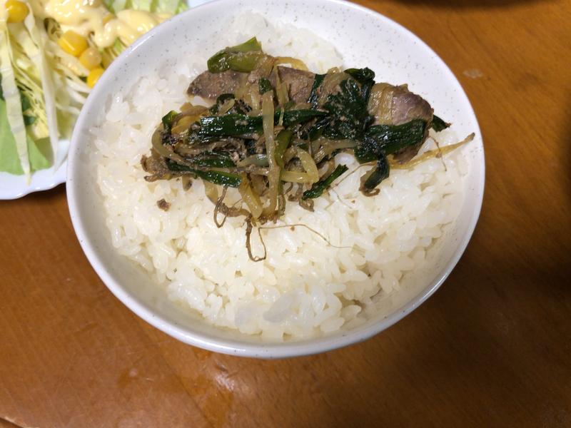 レバニラ炒めご飯2020/11/14